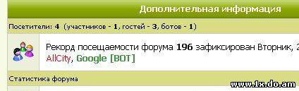 Бот в статистике онлайн. для uCoz