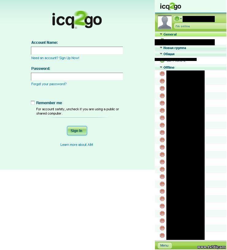 Новая рабочая ICQ Online 1 одной страницой, без swf скриптов